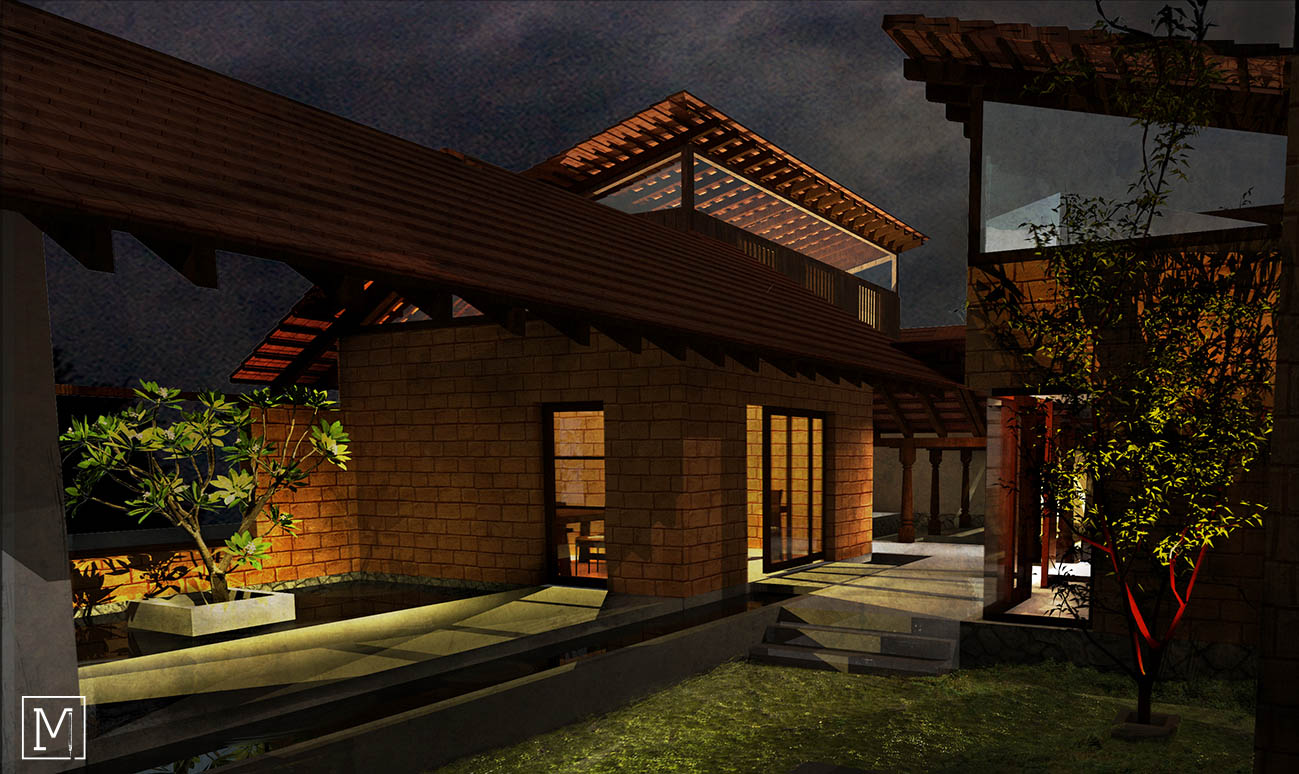 Abode in Arabica | Mud House | Central Courtyard | Chikamagalur_3