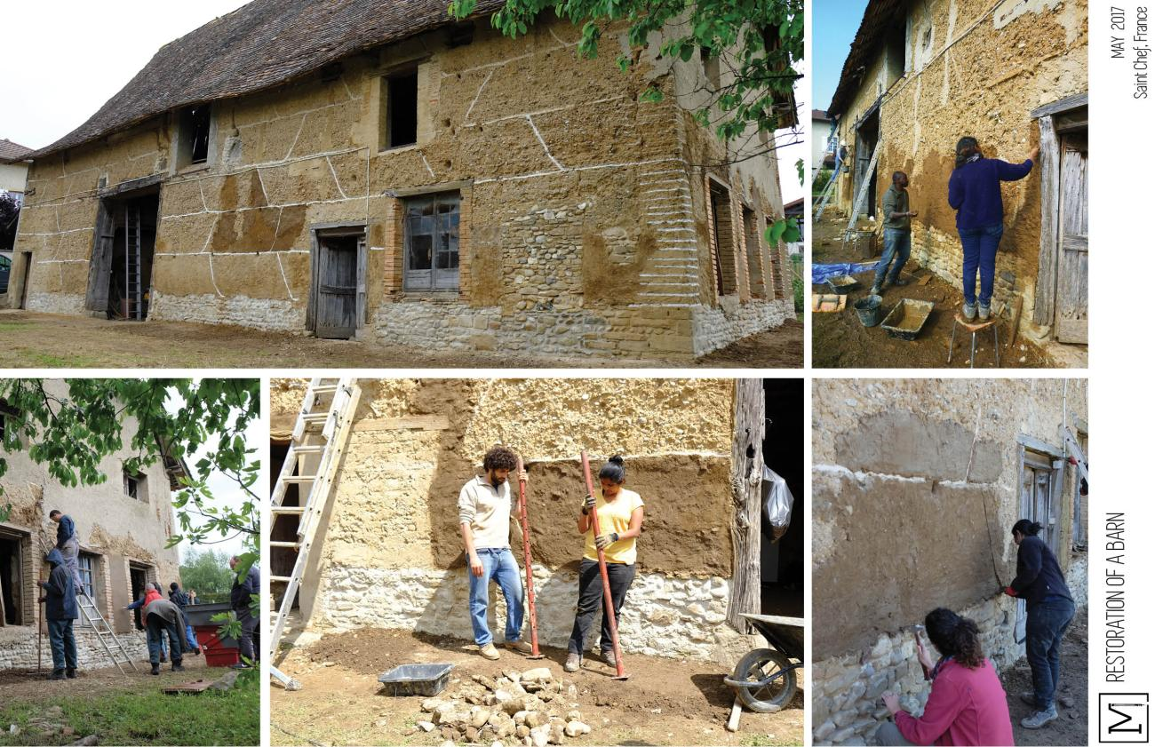 Mud Workshops| Mud Architecture_Barn restoration 15