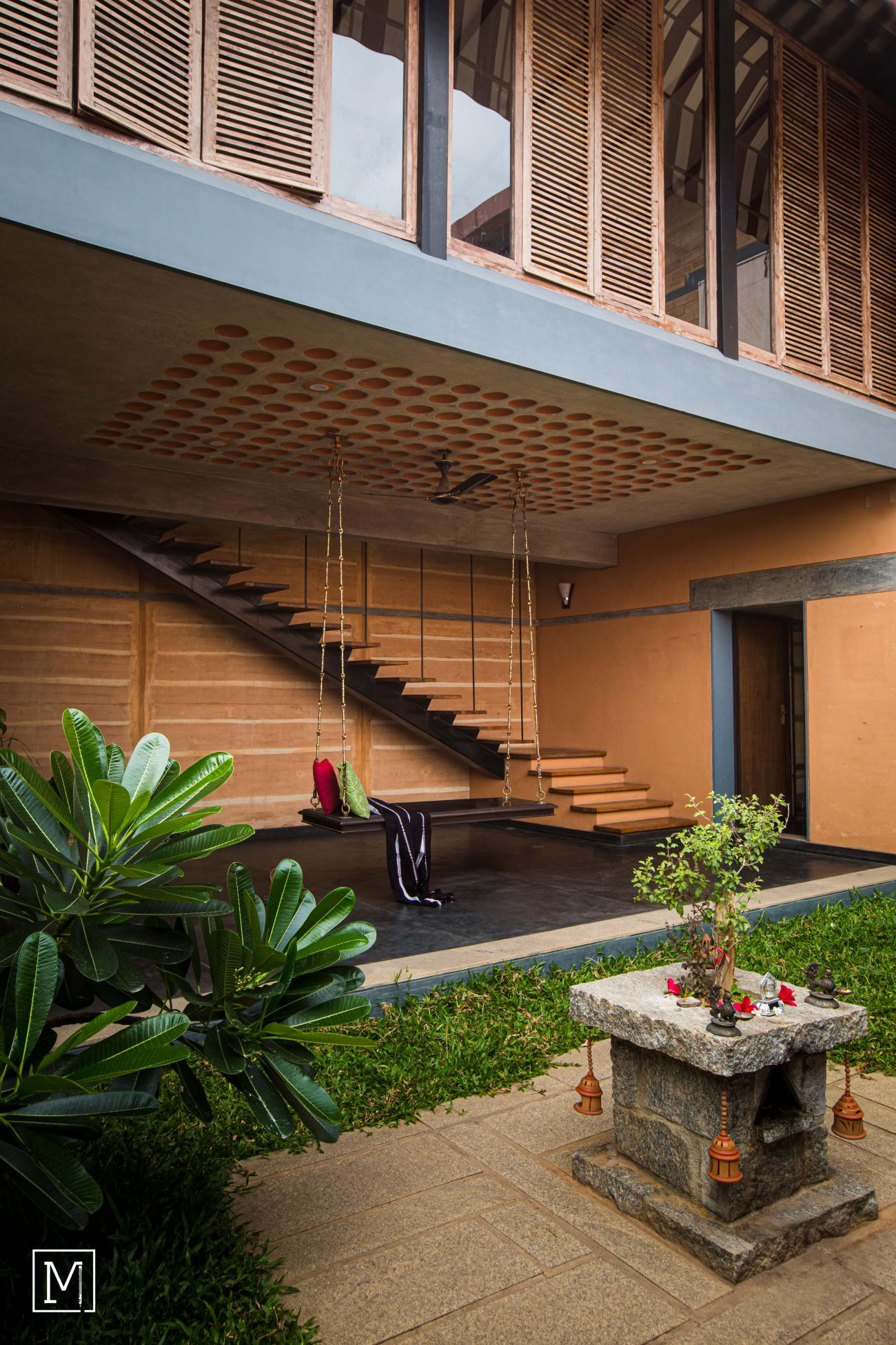 Yash Farms | Mud Architecture |CSEB |Rammed earth |Bengaluru |Courtyard_2