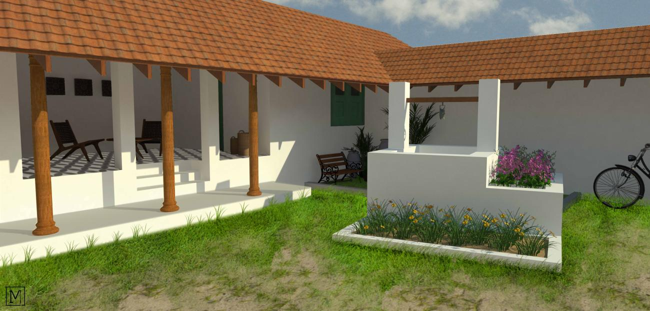 Mannu Kattu House| Mud Architecture |Heritage Conservation | Coimbatore | Cob | Courtyard_2
