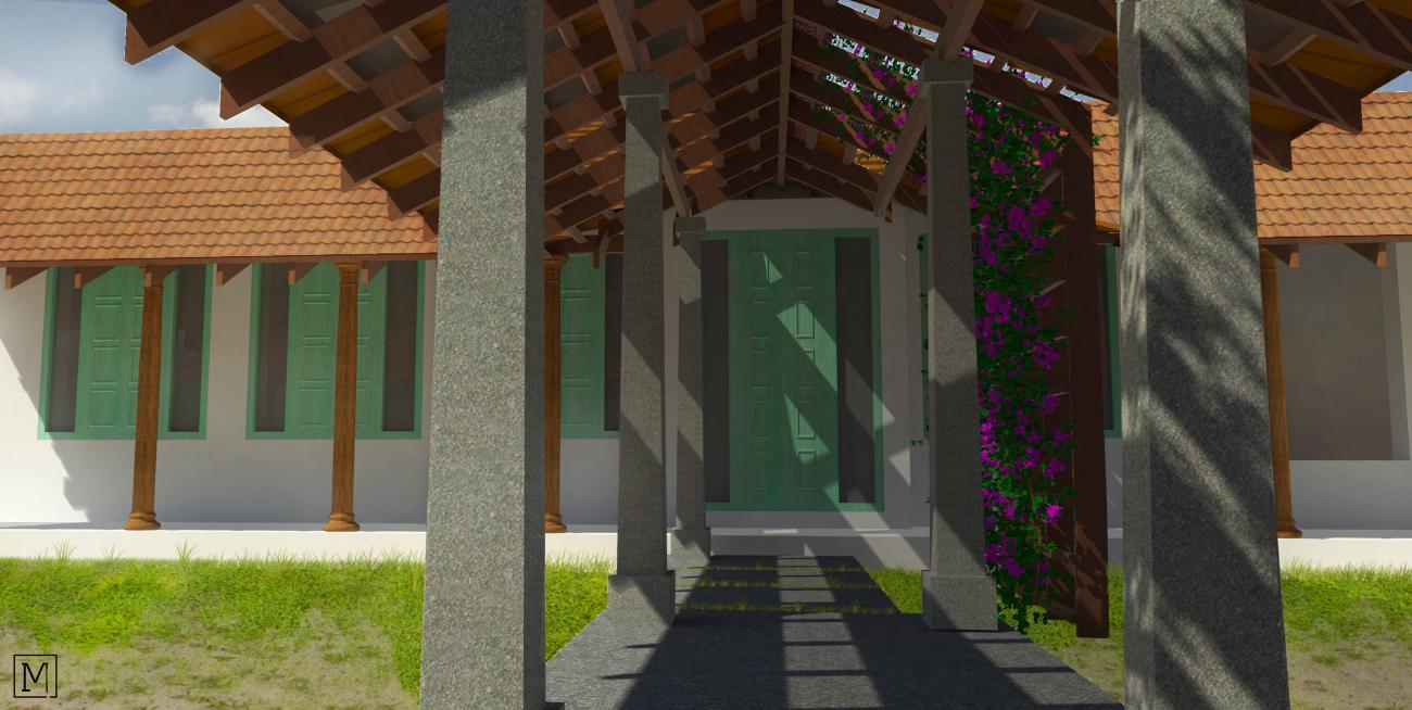 Mannu Kattu House| Mud Architecture |Heritage Conservation | Coimbatore | Cob | Courtyard_3